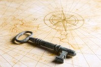 Compass Rose and Key